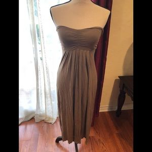 Dresses - Long strapless dress